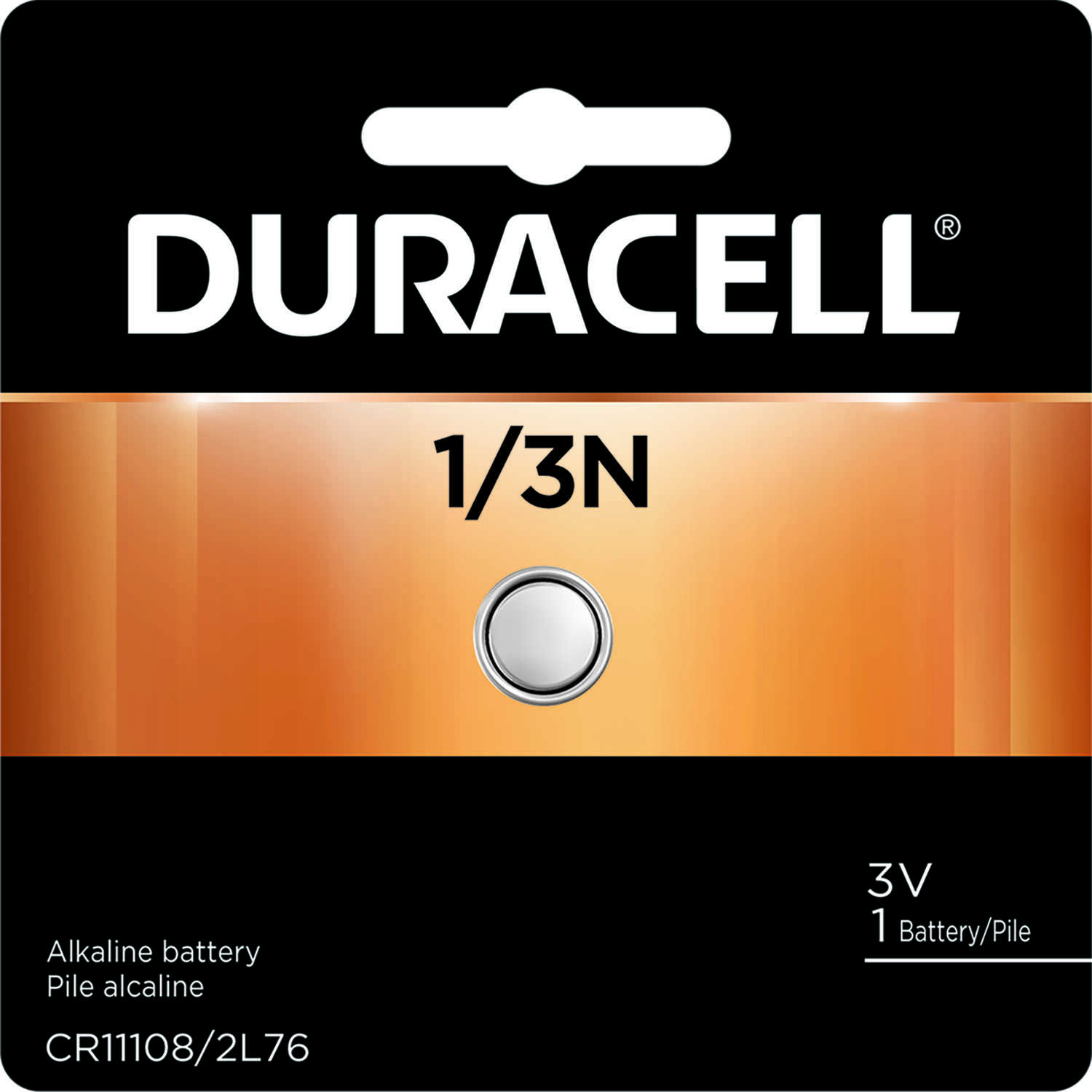 Duracell  1/3N  3 volt Camera Battery  1 pk Lithium