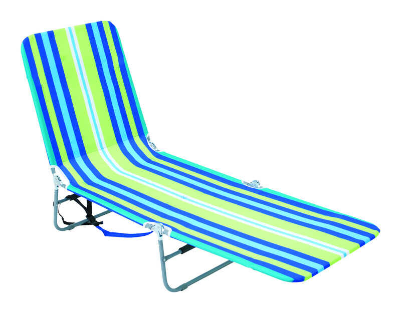 Rio Brands  Silver  Steel  Adjustable Backrest Chaise Lounge