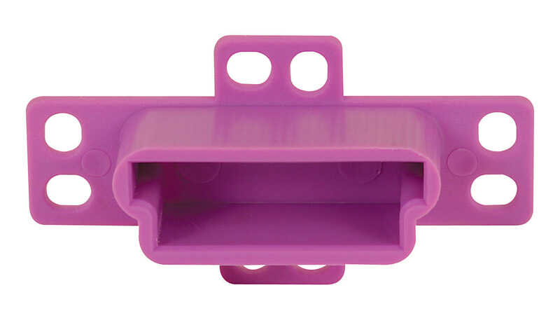 Prime-Line  1-1/4 in. L Plastic  Drawer Track Back Plate  1 pk
