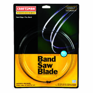 Craftsman  70.5  L x 0.2 in. W x 0.03 in.  Band Saw Blade  10 TPI Regular  1  Carbon Steel