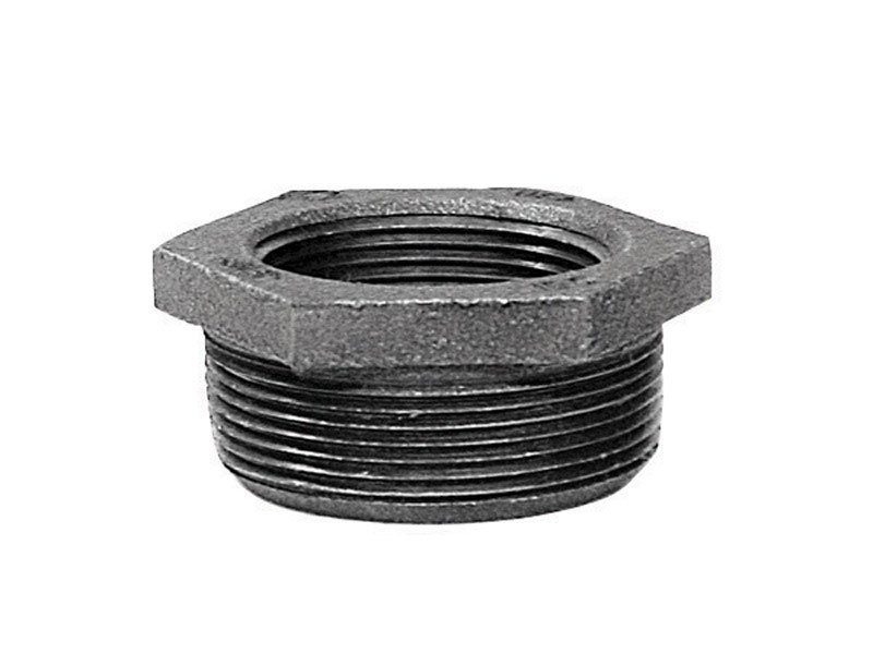 B & K  2 in. MPT   x 1/2 in. Dia. FPT  Galvanized  Malleable Iron  Hex Bushing
