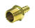JMF  Brass  1/4 in. Dia. x 1/4 in. Dia. Adapter  1 pk Yellow
