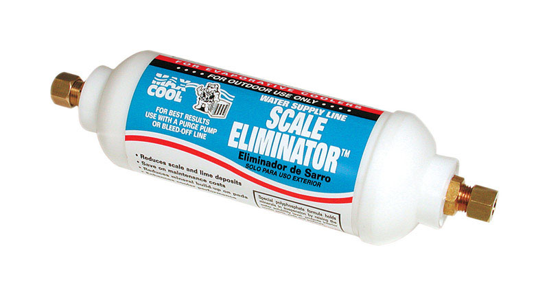 Dial  2 in. H x 2 in. W Plastic  In-Line Scale Eliminator Cartridge  White