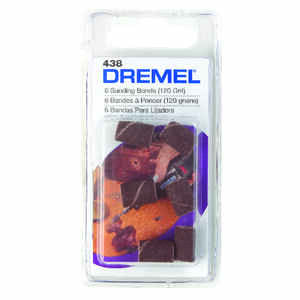 Dremel  0.3 in. Dia. x 1/2 in. L Emery  Drum Sander Bands  120 Grit Fine  6 pc.