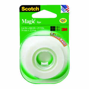Scotch  3/4 in. W x 500 in. L x 500 in. L x 3/4 in. W Tape  Clear