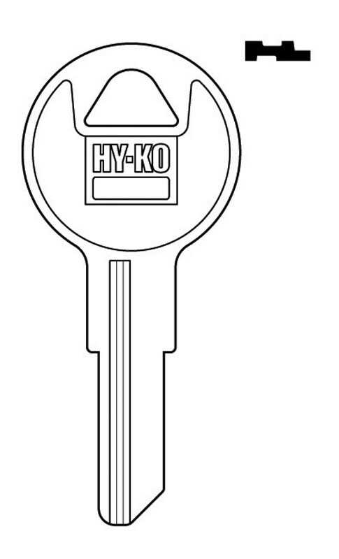 Hy-Ko  Automotive  Key Blank  EZ# IL9  Single sided For Illinois