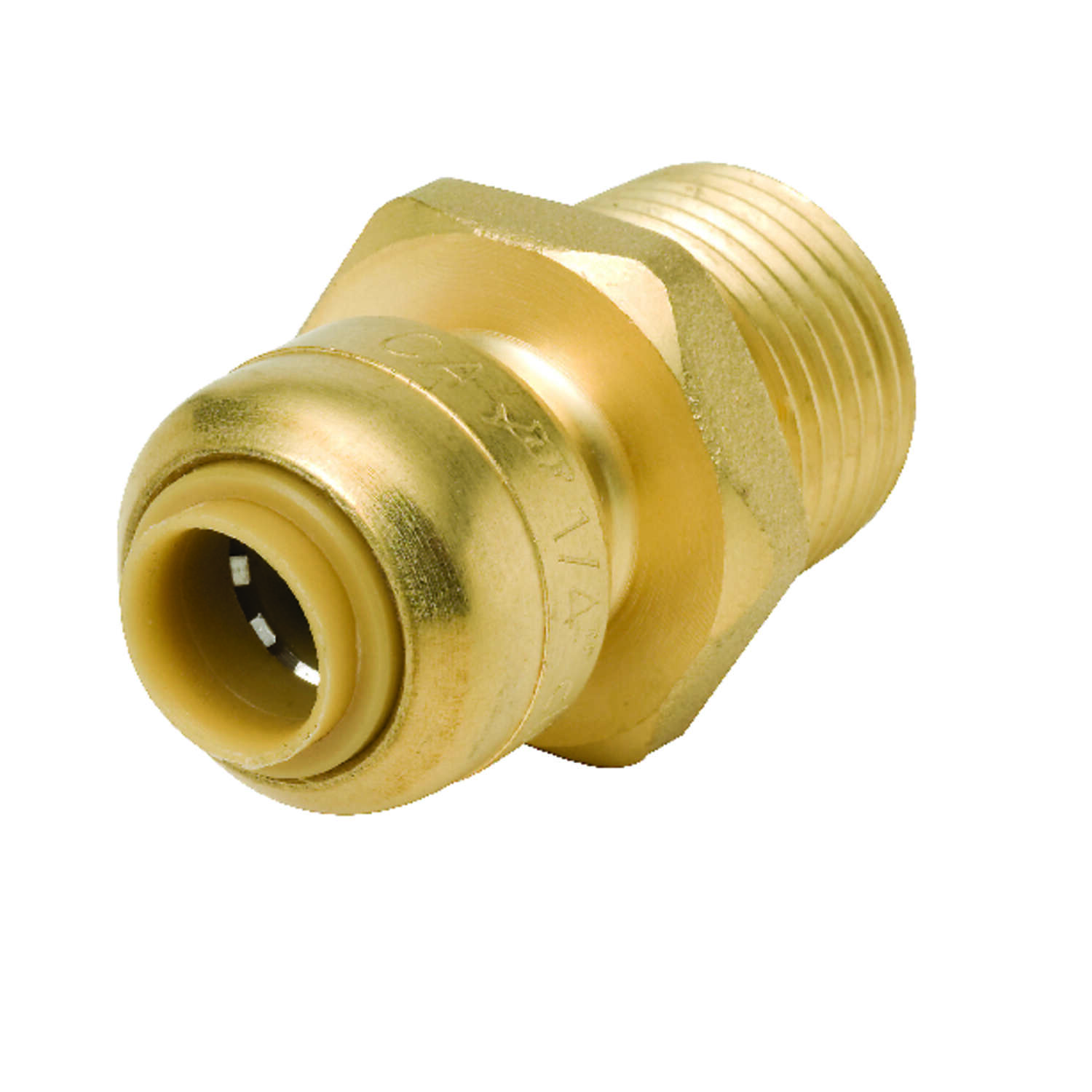 SharkBite  1/4 in. Push   x 1/2 in. Dia. MPT  Brass  Connector