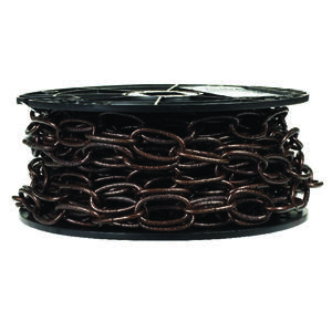 Campbell Chain  10  Antique Copper  Steel  Decorative Chain  0.14 in. Dia. 1.21 in.