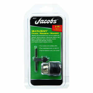 Jacobs  3/8 in. in. Keyless Drill Chuck  3/8 in. 3-Flat Shank  1 pc.