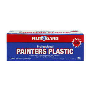 Film-Gard  Light Weight  Plastic  400 ft. L x 9 ft. W Painter's Plastic