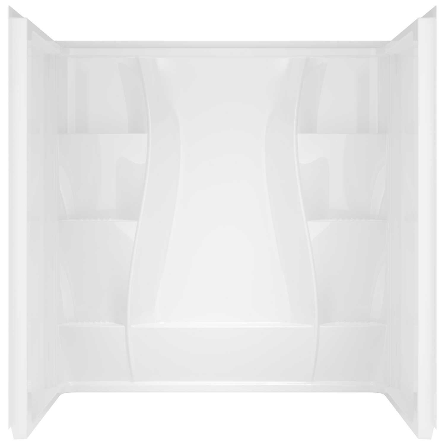 Delta Bathing System  74 in. H x 60 in. W x 32 in. L White  Acrylic  Reversible  Rectangular  Shower