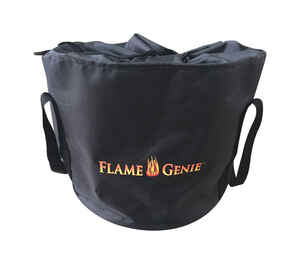 Flame Genie  15 in. H x 17 in. W x 17 in. L Black  Fabric  Fire Pit Cover
