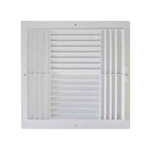 Deflect-O  Jordan  12 in. H 4-Way  White  Plastic  Ceiling Register