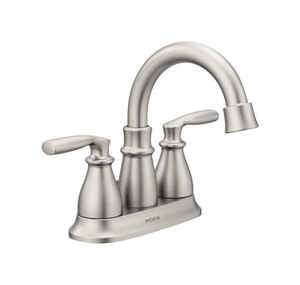 Moen  Hilliard  Brushed Nickel  Two Handle  Lavatory Faucet  four