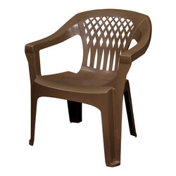 Adams  Big Easy  1 pc. Earth Brown  Polypropylene Frame Stackable  Chair