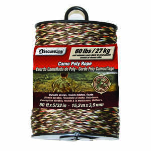 SecureLine  5/32 in. Dia. x 50 ft. L Camouflage  Braided  Poly  Rope