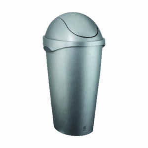 Umbra  12 gal. Nickel  Swing-Top  Wastebasket