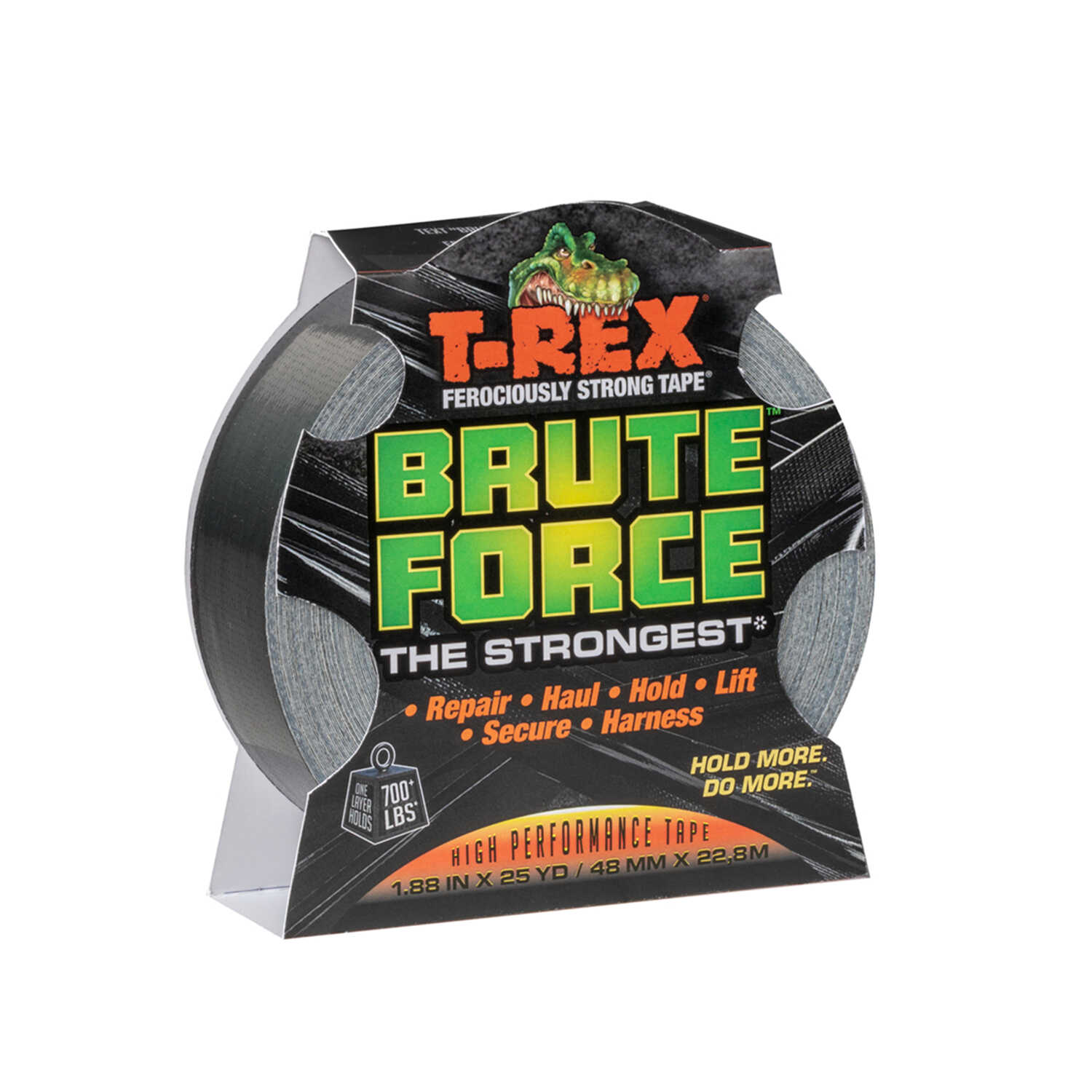 T-Rex  Brute Force  1.88 in. W x 25 yd. L Black  Duct Tape