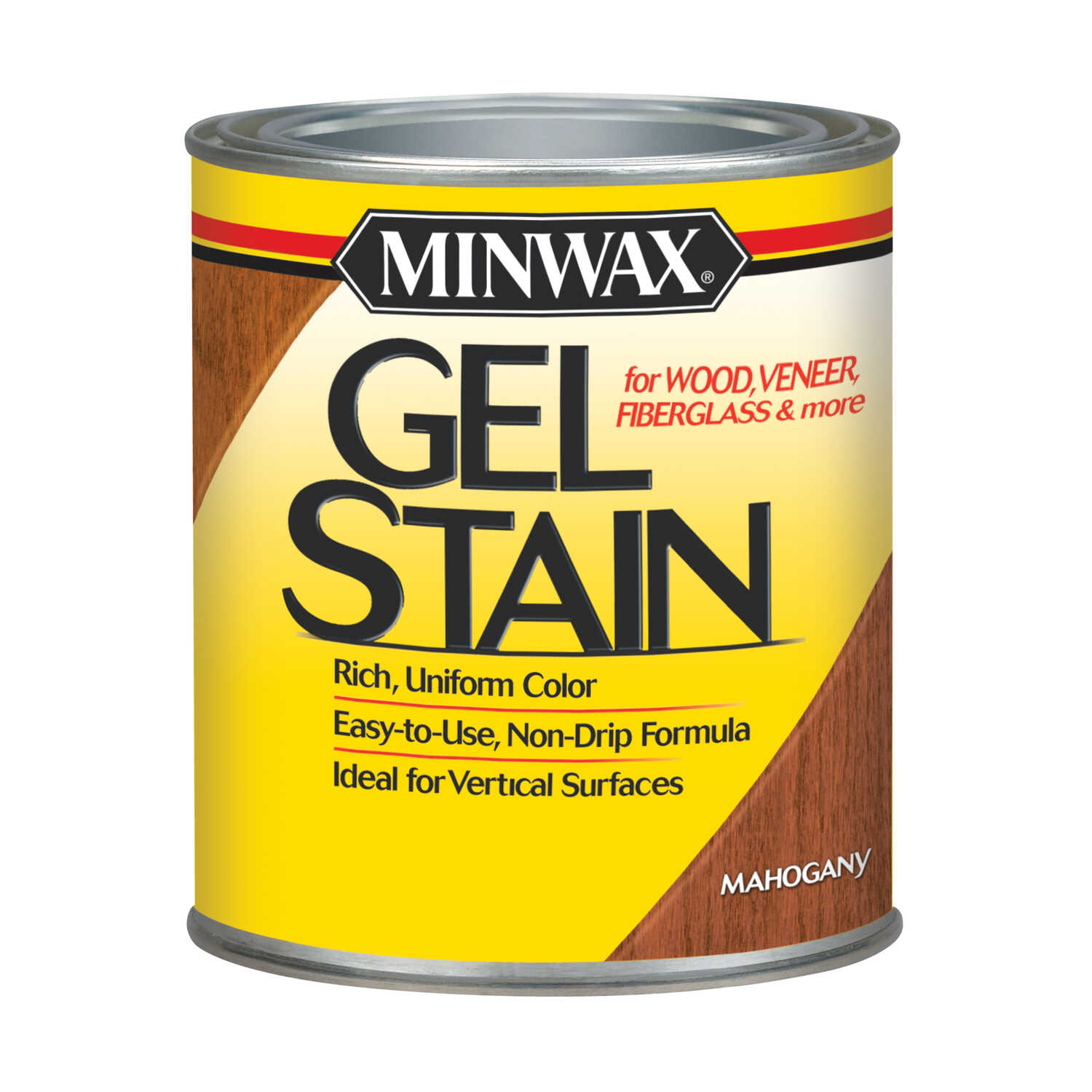 Minwax  Transparent  Low Luster  Mahogany  Oil-Based  Gel Stain  1 qt.