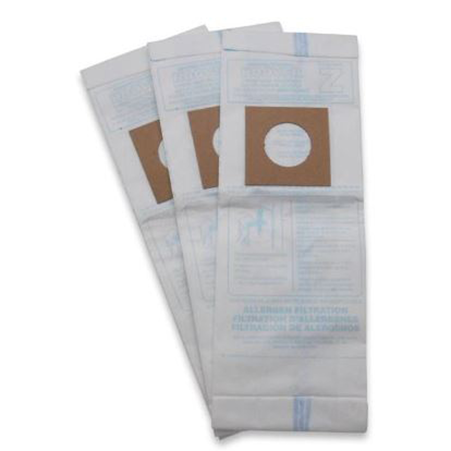 Hoover  Vacuum Bag Micro Filtration Type Z Fits Hoover Bagged 3 / Pack Upright