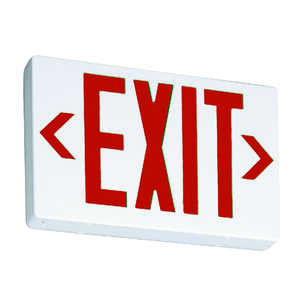 Lithonia Lighting  Thermoplastic  LED  Lighted Exit Sign  Indoor