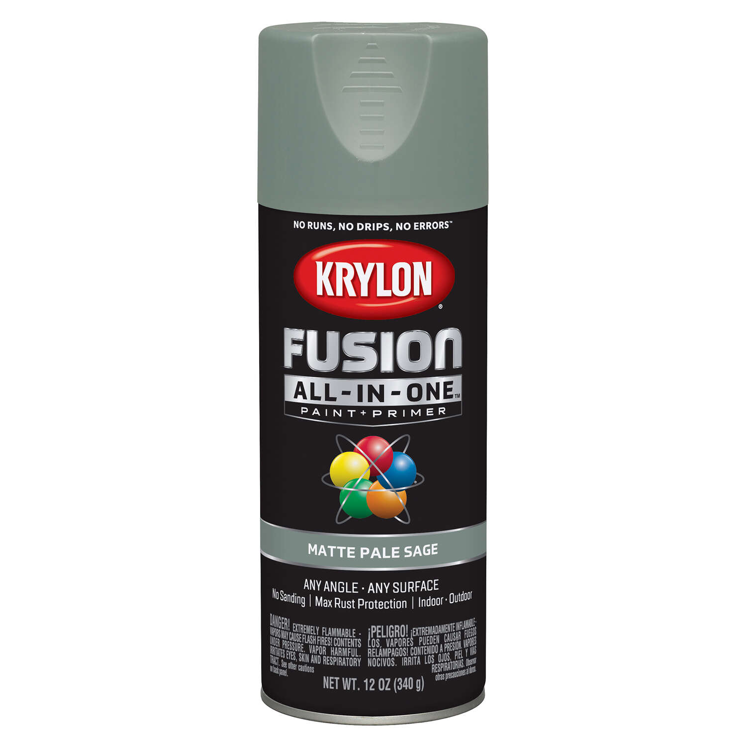 Krylon  Fusion All-In-One  Matte  Pale Sage  Paint + Primer Spray Paint  12 oz.