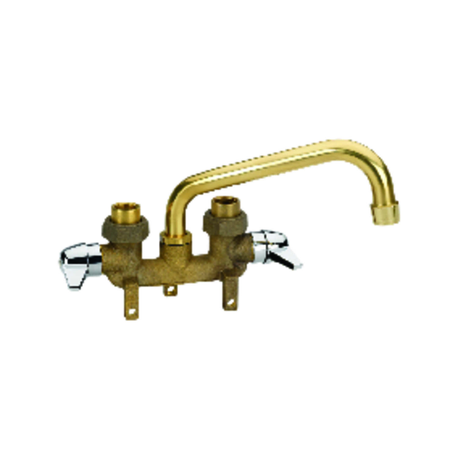 Homewerks  Tray  Rough Brass  Two Handle  Laundry Faucet  3.38 in.