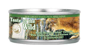 Taste of the Wild  Rocky Mountain Feline  Salmon and Roasted Venison  Minced  Dog  Food  Grain Free