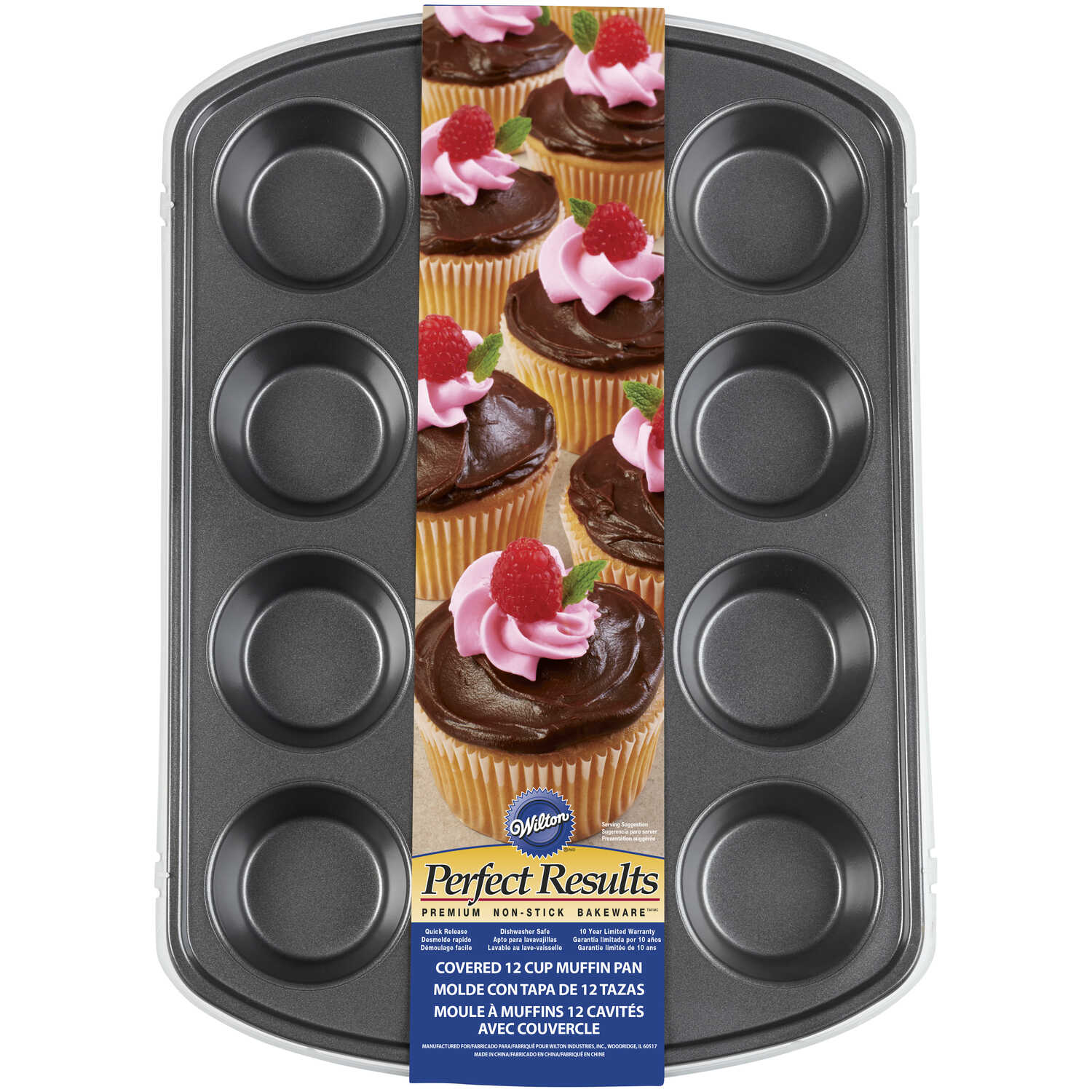 Wilton  Perfect Recipe  11 in. W x 15.5 in. L Muffin Pan  Silver