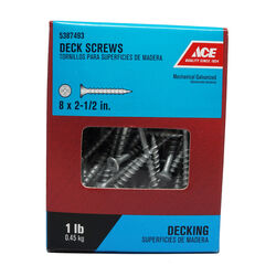 Ace  No. 8   x 2-1/2 in. L Phillips  Bugle Head Galvanized  Deck Screws  1 lb.