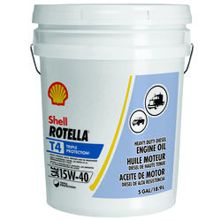 Shell  Rotella  15W-40  Diesel Engine  Heavy Duty  Motor Oil  5 gal.