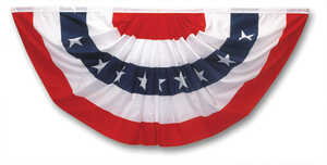 Valley Forge  American  Pleated Flag  1-1/2 ft. H x 36 in. W