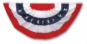 Valley Forge  American  Pleated Flag  36 in. W