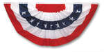 Valley Forge  American  Pleated Flag  18 in. H x 36 in. W