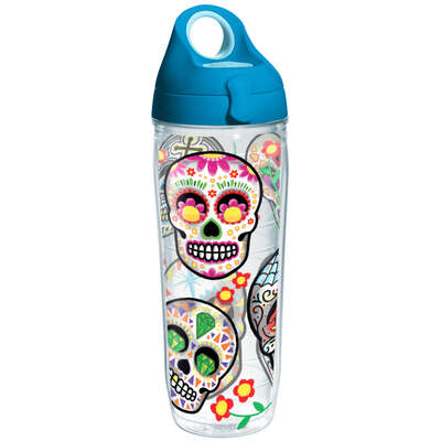 Tervis  24 oz. Sugar Skull  Water Bottle  Clear