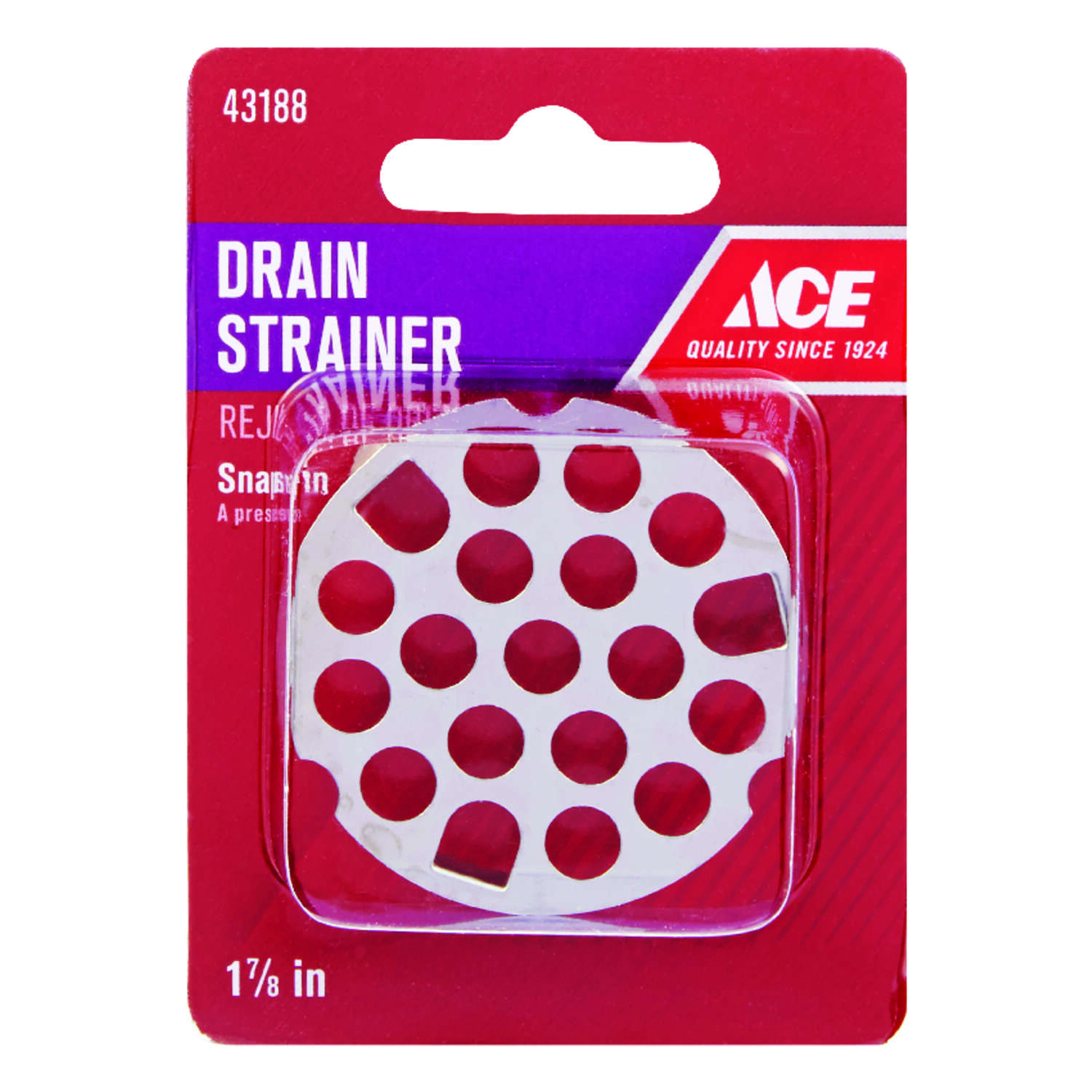 Ace  1-7/8 in. Dia. Stainless Steel  Sink Strainer