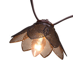 Living Accents  LED C7  Bronze Mesh Flowers  Light Set  Clear  13-1/2 ft. 10 lights