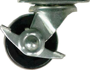 Shepherd  2 in. Dia. Swivel Rubber  Caster  90 lb. 1 pk