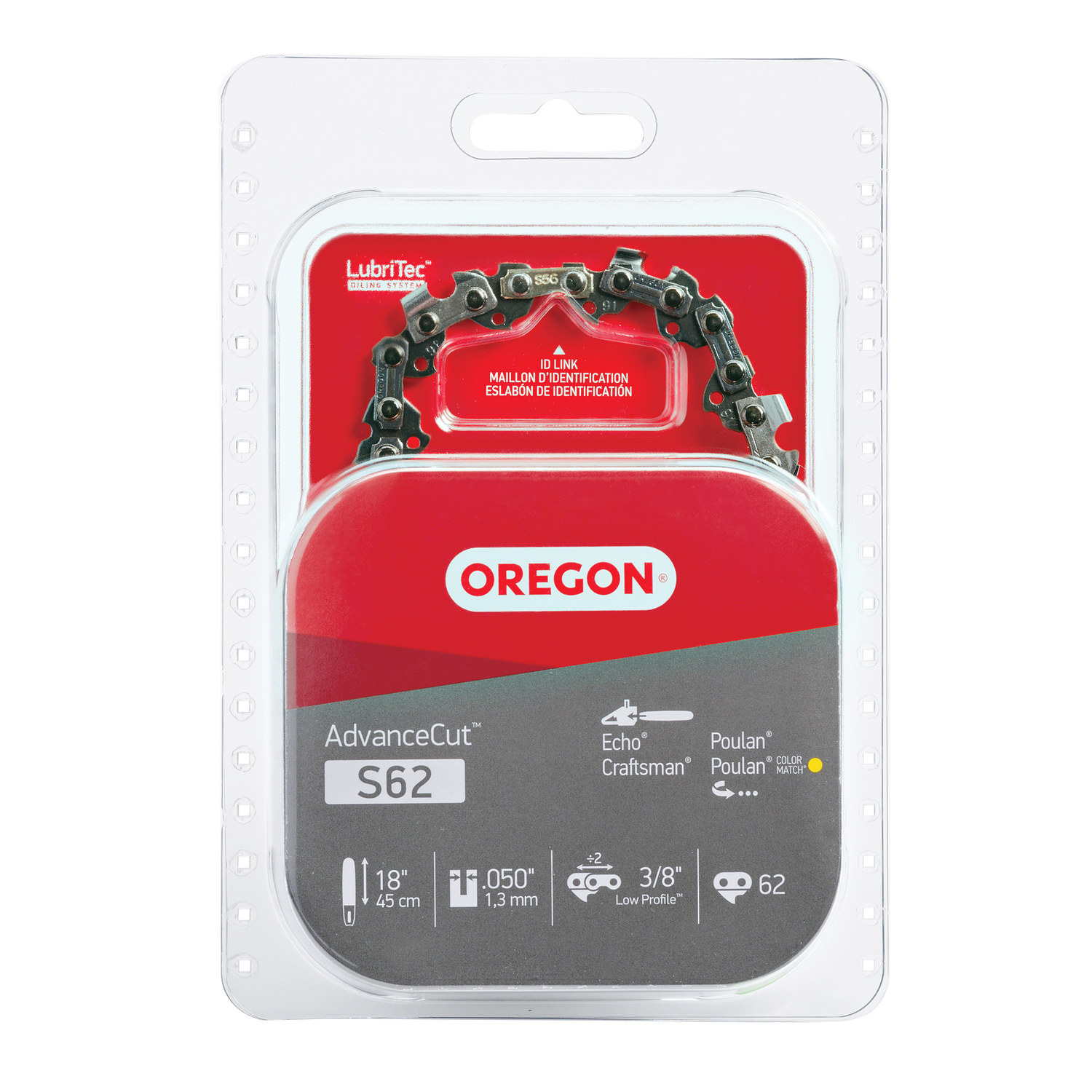 Oregon  18 in. L 62 links Chainsaw Chain