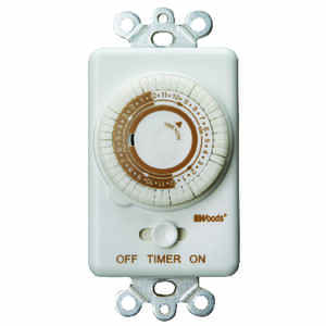 Woods  Indoor  Wall Switch Timer  120 volt White