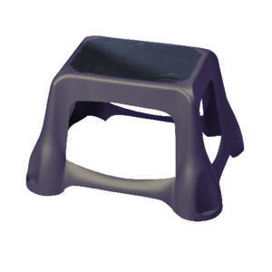 Rubbermaid  Plastic  1  Large Step Stool  300 lb.