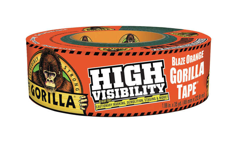Gorilla  35  L x 1.88 in. W High-Visibility Duct Tape  Blaze Orange