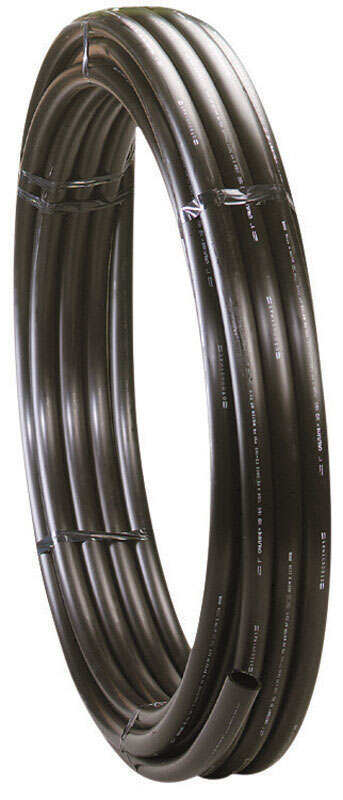 Centennial Plastics  0.824 in. Dia. x 100 ft. L Polyethylene  Pipe  80 psi