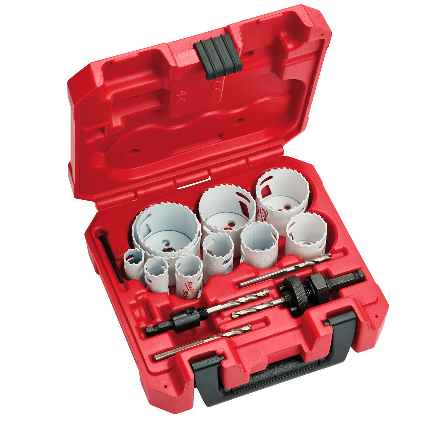 Milwaukee  Hole Dozer  Assorted in. Dia. x 1.6 in. L Bi-Metal  3/8 in. 15 pc. Hole Saw Kit