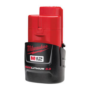 Milwaukee  M12 REDLITHIUM  12 volt 3 Ah Lithium-Ion  Battery Pack  1 pc.