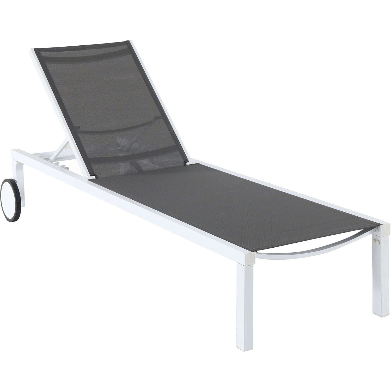 Hanover  Windham  1 pc. White  Aluminum Frame Modern  Chaise Lounge