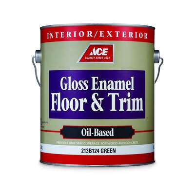 Ace  Gloss  Green  Oil-Based Floor Paint  1 gal.