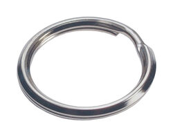 Hillman  1-1/4 in. Dia. Tempered Steel  Silver  Split Rings/Cable Rings  Key Ring