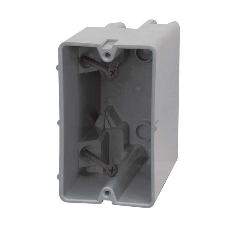 Madison Electric  Smart Box  3.75 in. PVC  Electrical Box  Gray  1 Gang  Rectangle