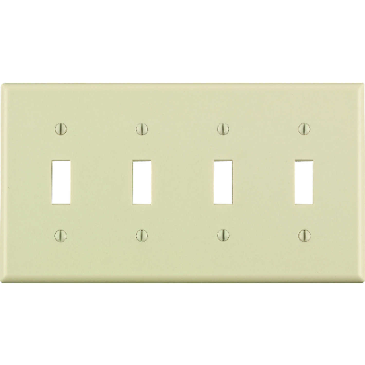 Leviton  Almond  4 gang Plastic  Toggle  Wall Plate  1 pk